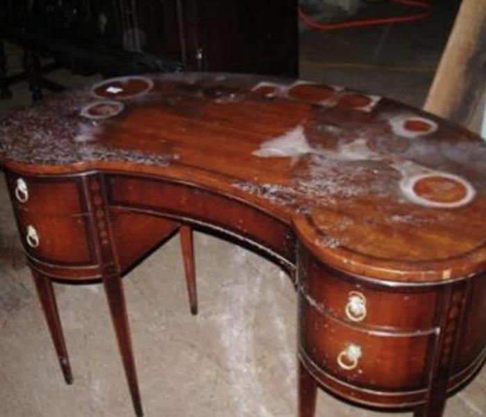 Fire damaged furniture