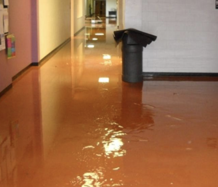Flooding in a local school